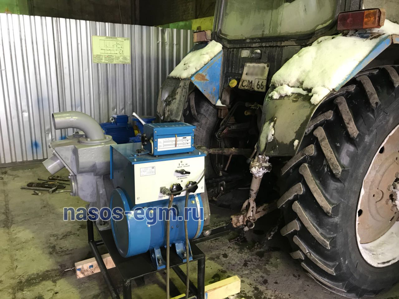 Навесная установка для МТЗ со сварочным генератором
